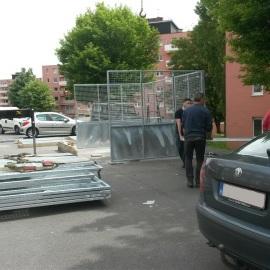 Espace de collecte des déchets au Spignat
